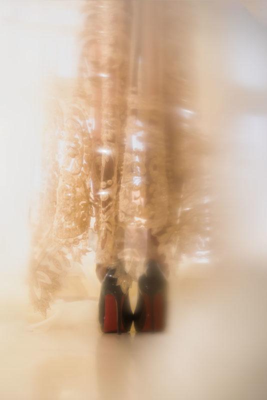 Glamorous wedding detail shot of shoes. dubai wedding photographer